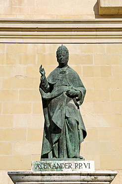 Statue of Pope Alexander VI, St. Mary's Basilica, La Seu Cathedral, Xativa (Jativa), Valencia, Spain, Europe