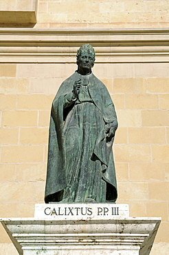 Statue of Pope Calixtus III, St. Mary's Basilica, La Seu Cathedral, Xativa (Jativa), Valencia, Spain, Europe