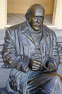 Bronze sculpture of painter Sixto Marco, Elche, Elx, Alicante, Costa Blanca, Spain