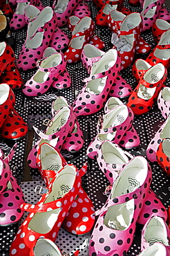 Flamenco shoes for sale at the weekly market, Altea, Alicante, Costa Blanca, Spain