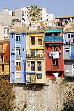 Colourful houses, Vila Joiosa, Villajoyosa, Alicante, Costa Blanca, Spain