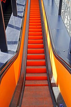 Escalator, Zeche Zollverein, Zollverein Coal Mine Industrial Complex, Essen, North Rhine-Westphalia, Germany, Europe