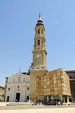 San Salvador Cathedral, La Seo Square, Zaragoza, Saragossa, Aragon, Spain, Europe