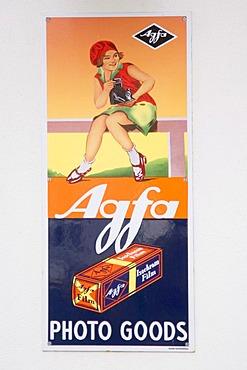 Island Rugen Ruegen Mecklenburg-Vorpommern Germany Sellin advertising sign for Agfa films from the time of 1930