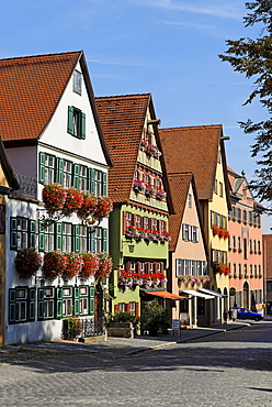 Segringer Strasse Dinkelsbuehl Dinkelsbuehl Romantische Strasse Romantic Road Middle Franconia Bavaria Germany