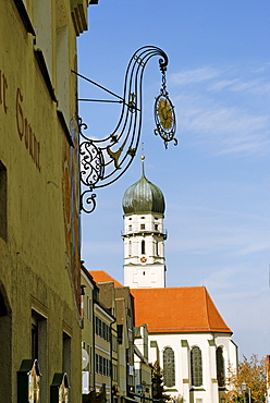 Schongau Upper Bavaria Germany parish church Assumption of Mary