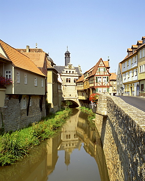 Marktbreit upon the river Main Lower Franconia Bavaria Germany painter's corner