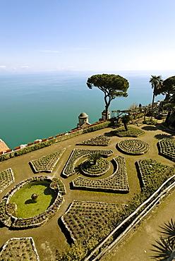 Ravello Campania Italy Italia Villa Rufolo garden above the amalfi coast