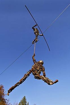 Tightrope walker art by Siegfried Ulmer in the Buchheim museum near Bernried at the Starnberg Lake in Bavaria Germany