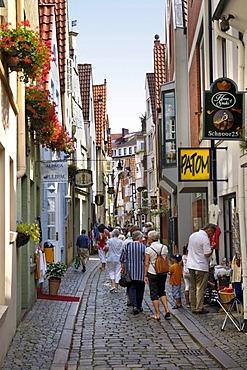 Schnoor Quarter, old part of town, Bremen, Germany