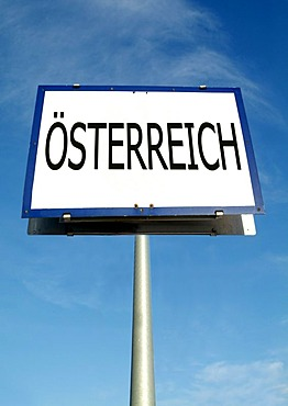 Austria on town sign