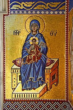 Wall mosaic, Kykkos Monastery, Cyprus, Europe