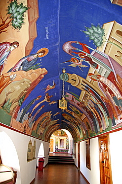 Wall mural at Kykkos Monastery, Cyprus, Europe