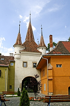 Catherine's Gate, tourist site in Brasov, Transylvania, Romania, Europe