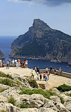 Lookout terrace, Cap Formentor, Majorca, Balearic Islands, Spain, Europe