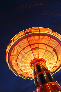 Swing carousel (chair-o-plane) at a fair in Stuttgart, Baden-Wuerttemberg, Germany, Europe