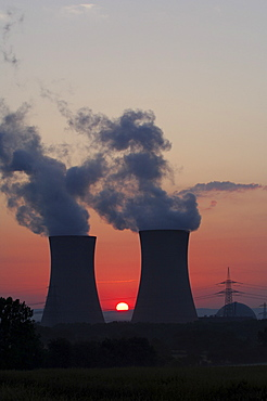 Grafenrheinfeld Nuclear Power Plant, Lower Franconia, Bavaria, Germany, Europe