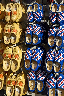 Clogs with the frisian coat of arms, Harlingen, Frisia, Netherlands
