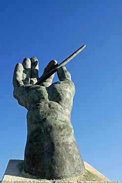 Conductor's baton, music square, Finestrat, Costa Blanca, Spain