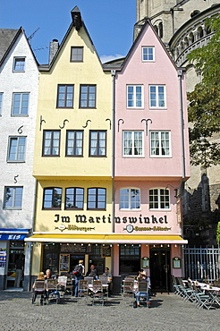 Tavern, Great St. Martin Church, Cologne, North Rhine-Westphalia, Germany