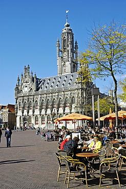 Town hall Stadthuis Middelburg Zeeland Holland the Netherlands