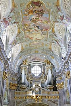 Organ in the baroque pilgrimage church on the Sonntagsberg designed and planned by Jakob Prandtauer und Joseph Munggenast Lower Austria