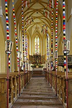 Decorated interior of the church, Pfarrwerfen, Sazburg, Austria