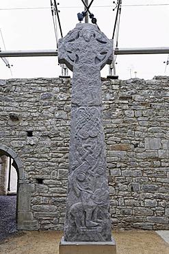 Celtic crosses in the Kilfenora church, Burren, Clare, Ireland