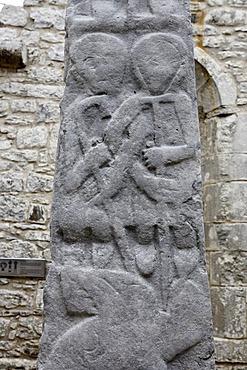 Details of the celtic crosses in the Kilfenora church, Burren, Clare, Ireland