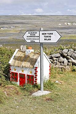 Funny signs, Inis Mor, Aran Islands, Ireland