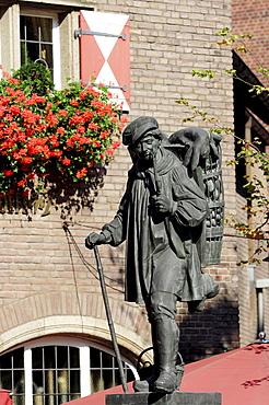 Kiepenkerl Memorial, Muenster, North Rhine-Westphalia, Germany, Europe