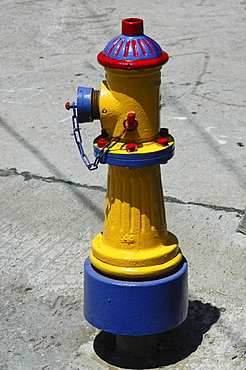 Colorful hydrant, Valparaiso, Chile, South America