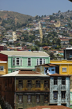 Hills and buildings of Valparaiso, Chile, South America