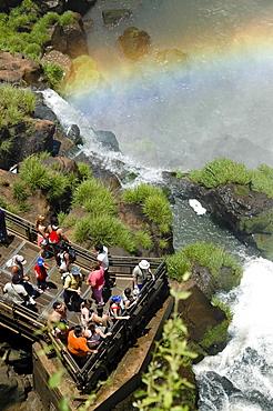 Viewing platform, Iguacu, Brazil, South America