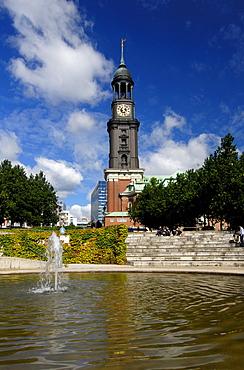 St. Michaelis church in Hamburg, Germany