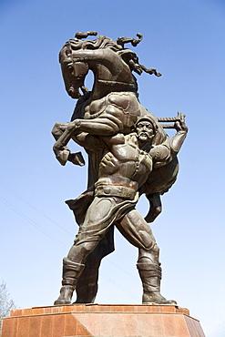 Soviet statue in Bishkek, Frunze, Kyrgyzstan