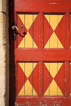 Door, detail, Raesfeld Moated Castle, 17th century, Raesfeld, Muensterland, North Rhine-Westphalia, Germany, Europe
