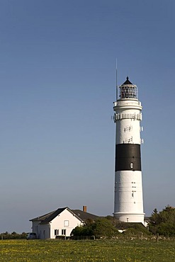 Rote Kliff Lighthouse, Kampen, Sylt, North Frisia, Schleswig-Holstein, Germany, Europe