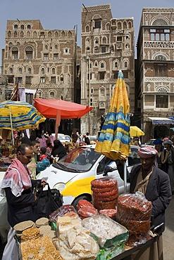 Souk, market, historic centre of Sanëaí, Unesco World Heritage Site, Yemen, Middle East