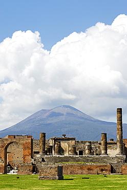 Forum in front of Mt. Vesuvius, Pompei (Pompeii), Campania, Italy