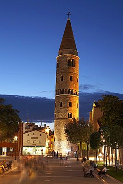 Caorle, church, historic centre at dusk, Upper Adria, Italy, Europe