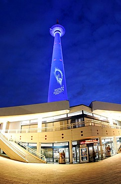 TV Tower on Alexanderplatz in Berlin during the Festival of Lights