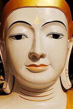 Buddha statue (closeup), Shwedagon Pagoda, Yangon (Rangoon), Myanmar (Burma), Southeast Asia