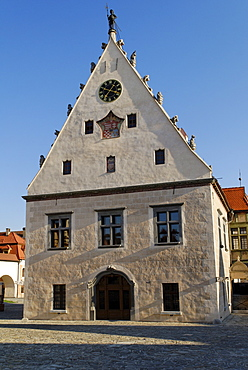 Building in the historic town square of Bardejov, a UNESCO World Heritage Site, Slovakia, Europe
