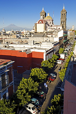 Historic city centre of Puebla, UNESCO World Heritage Site, Popocatepetl, Mexico, Central America