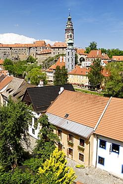 Historic centre of Cesky Krumlov, UNESCO World Cultural Heritage Site, Bohemia, the Czech Republic, Europe