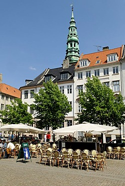 Hojbro Plads and Nikolaj Church, Copenhagen, Denmark, Scandinavia, Europe