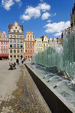 Wroc&aw Market Square, Rynek, Silesia, Poland, Europe