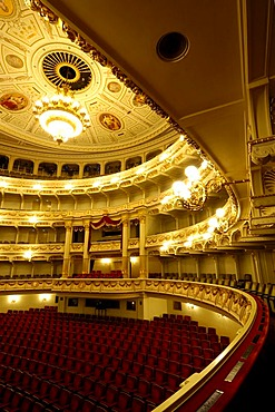 Semper Opera auditorium Dresden, Saxony, Germany
