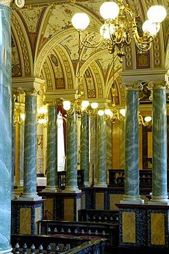 Semper Opera foyer Dresden, Saxony, Germany
